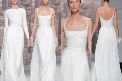 Vestidos de novia minimalistas para tu boda en 2015