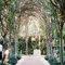 Decoración de ceremonia celebrada en un bosque.
