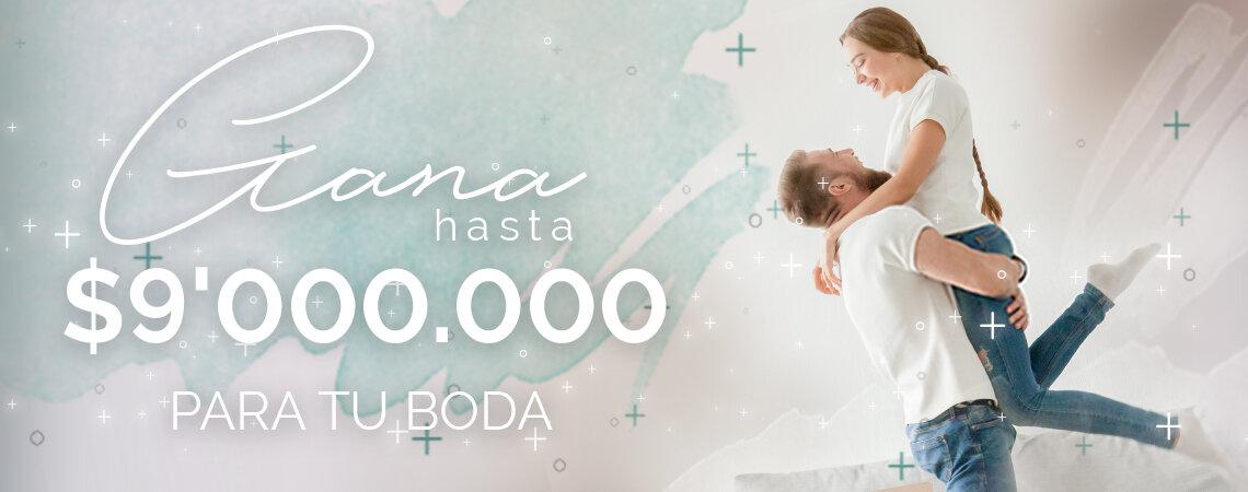 Participa y gana ¡hasta $9'000.000 para tu boda con Zankyou! Te ayudamos a celebrar tu gran día