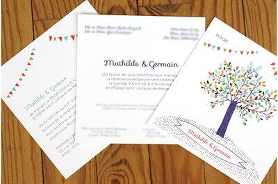 Les Cartes de l'Aimant, 3 illustratrices pour des faire-part de mariage originaux !