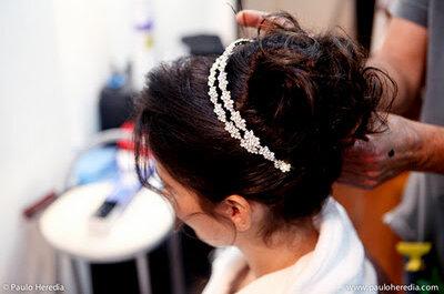 8 penteados de noiva com cabelos castanhos para inspirar