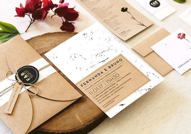 10 ideias para os convites do seu casamento. Vai ser difícil escolher um!