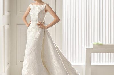 Decote em barco: vestidos de noiva com elegância e distinção
