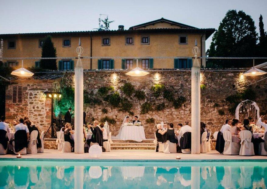 Sposati in Toscana in un'autentica villa del 1700, immersa nelle colline del Chianti: Villa La Palagina
