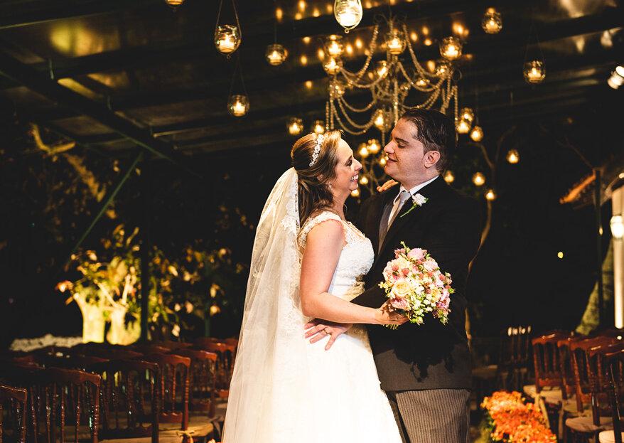 Casamento Tatiana & Raffael: decoração clássica para celebrar o amor que nasceu no Tinder