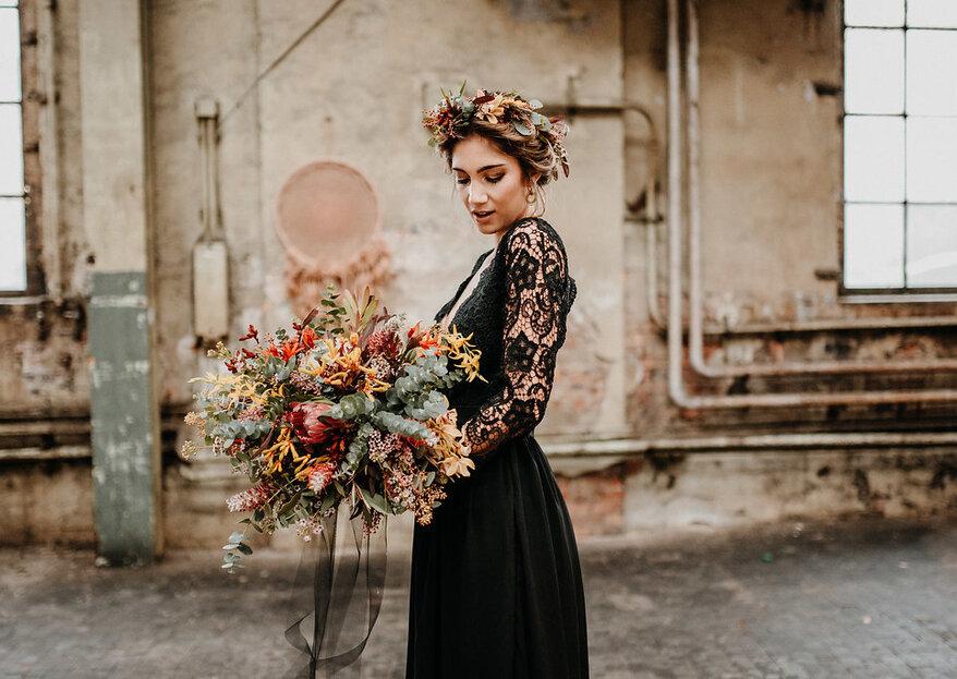 Im schwarzen Hochzeitskleid zum Altar? Diese Boho-Braut zeigt wie es geht!