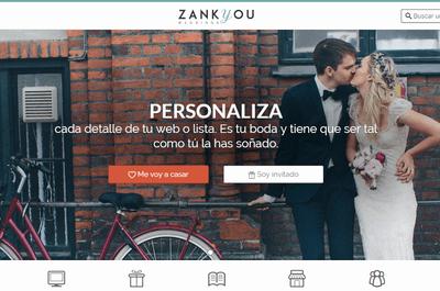 Crea tu propia web de bodas gratuita y lista de novios con Zankyou