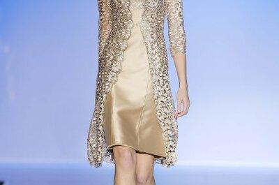 ¿Estás invitada a una boda? ¡Brilla con un vestido dorado!