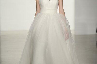 Blanco chic: Vestidos de novia de Amsale colección otoño 2014