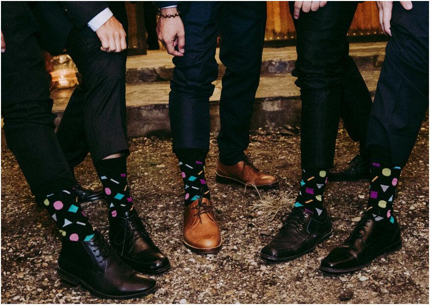 Novio: ¡calcetines divertidos y con estilo para lucir el día de la boda!