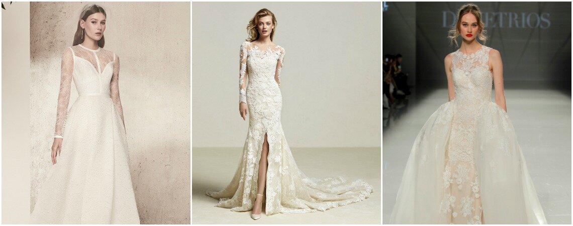 Vestidos de novia con encaje. ¡Diseños con el tejido estrella de la temporada!