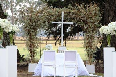 Cómo decorar el altar de tu boda al aire libre