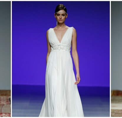 8d914e8ce Si te casas y estas embarazada, no te estreses para elegir tu vestido de  novia ideal. Mira esta selección de vestidos de novia para embarazadas y  luce esa ...
