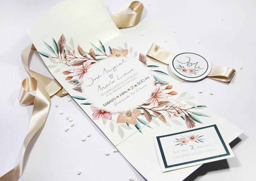Diseña una marca para tu boda y que todos la reconozcan desde las invitaciones