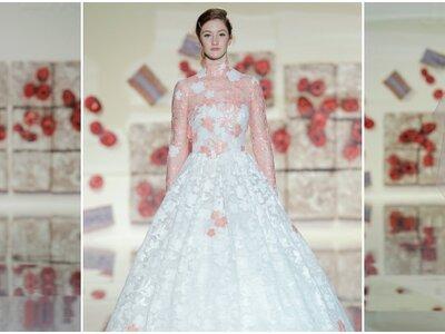 Una sfilata all'insegna della dolcezza: la collezione di abiti da sposa Jesús Peiró 2017