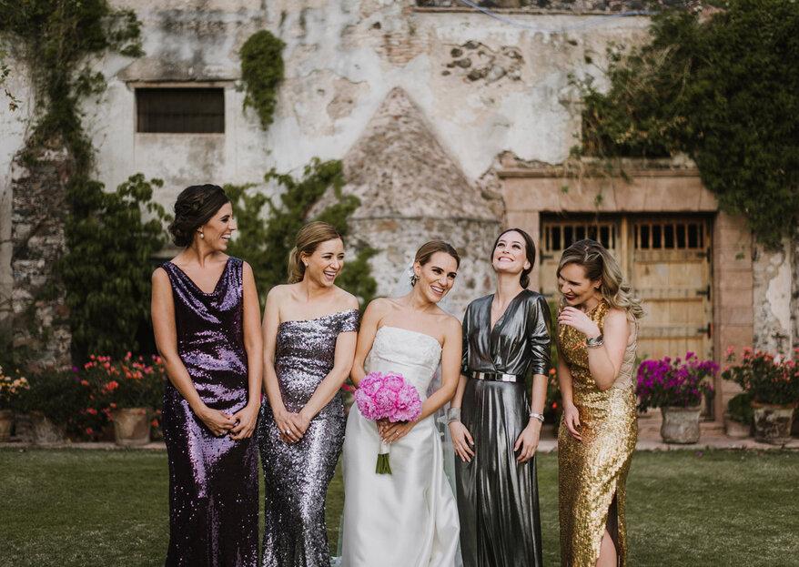 Elige los mejores vestidos para tus damas con estas ideas: ¡Te van a encantar!
