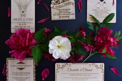 Epatez vos invités avec des faire-part de mariage en bois : chic et stylé