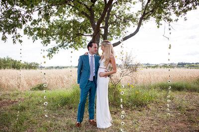 Marie-Lynn et Lander :  un mariage romantique et floral au milieu des vignes du Languedoc-Roussillon