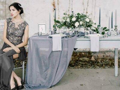 Osypane srebrem i szarością piękno ślubne w niezwykłej stylizowanej sesji! Zapraszamy!