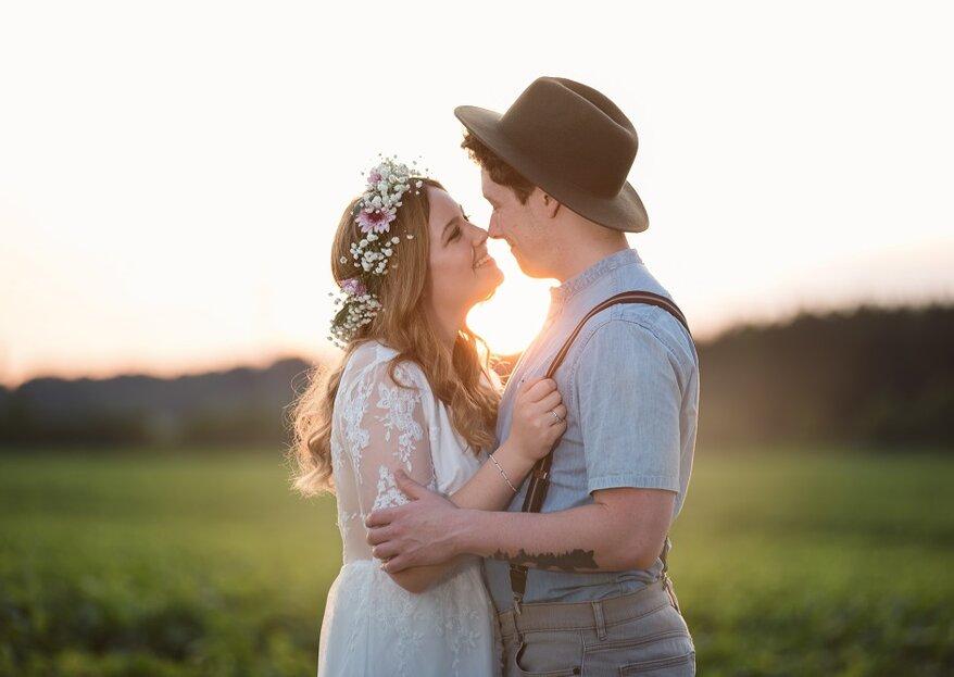 Un matrimonio a tema hippie: ecco come ricreare la magica atmosfera degli anni '60
