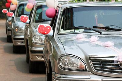 Kreativer Schmuck für das Hochzeitsauto