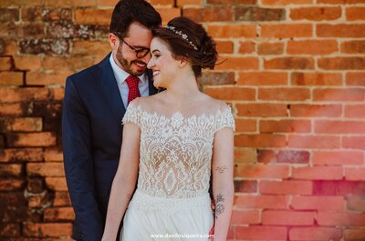 Casamento ao ar livre de Paula & Gabriel: decoração moderninha e colorida num dia perfeito!