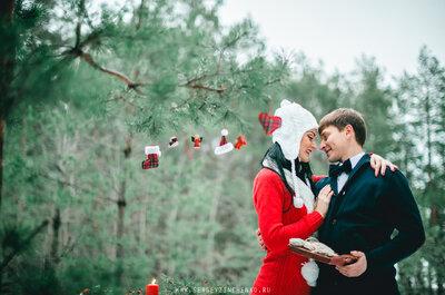 Идеи для Love Story: зимняя фотосессия Яны и Антона
