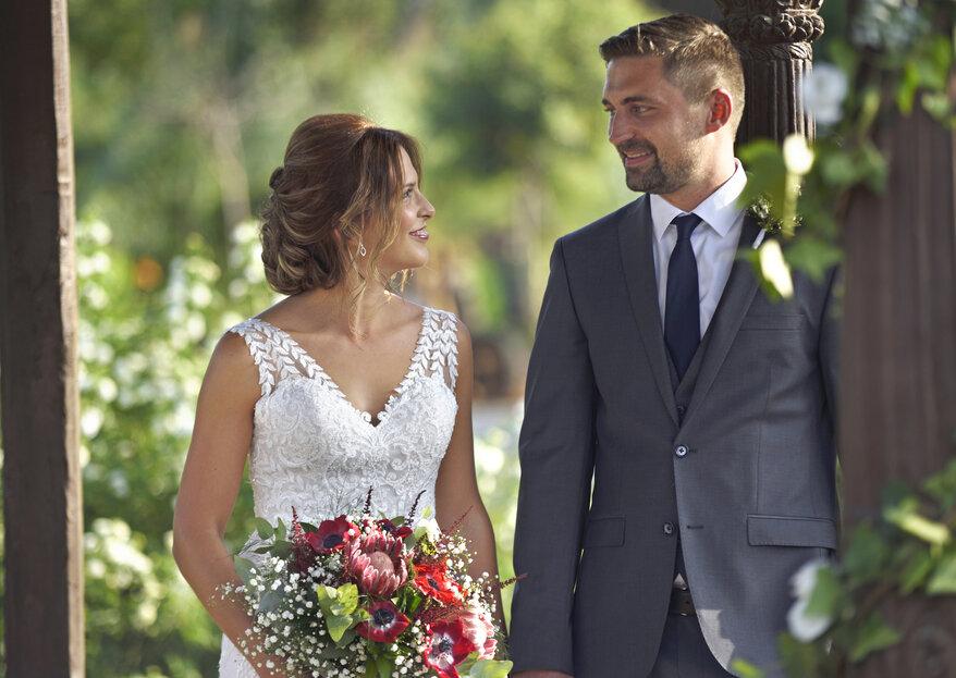 Desde Suiza hasta Málaga: la boda de Yves y Sabrina