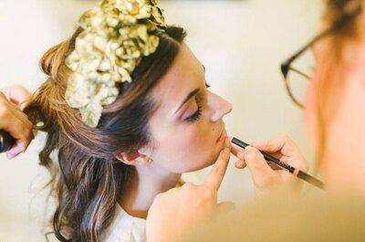 Cómo combinar tu vestido de novia con un deslumbrante maquillaje. ¡Nuestros expertos aconsejan!