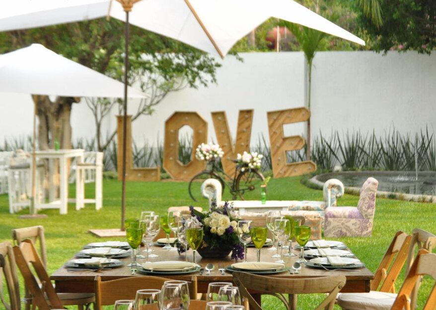 Vive una boda entre hermosa vegetación en el Jardín boutique San Alejandro
