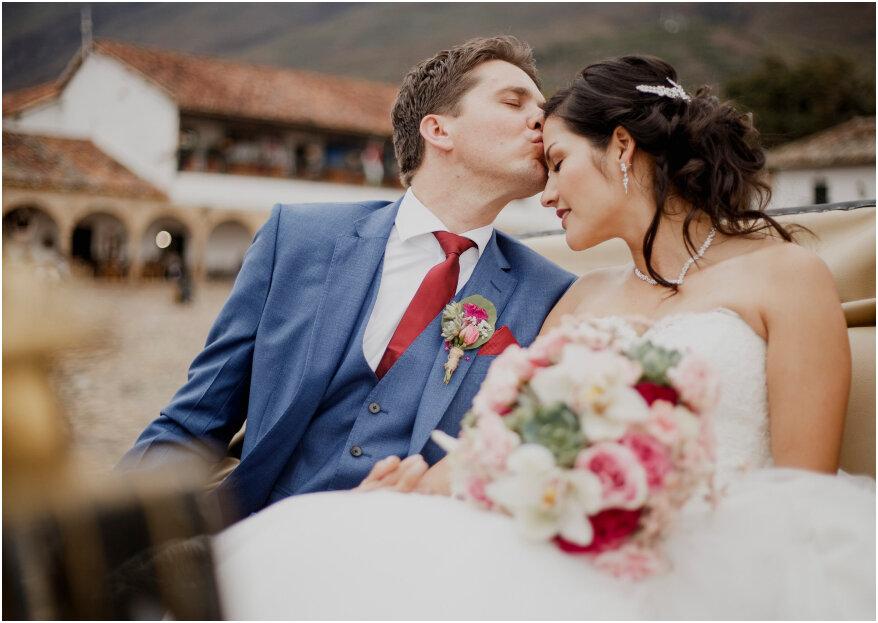 Carolina y Justin: una hermosa boda contada desde el otro lado del mundo