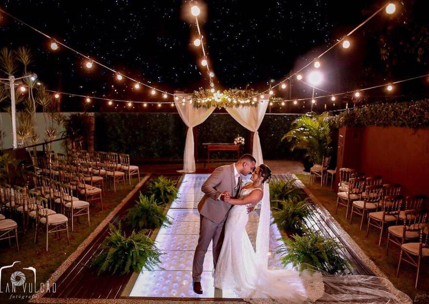 Casa Orla: o lugar perfeito para os noivos que sonham em casar em meio à natureza, sem abrir mão de uma estrutura completa!