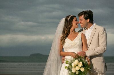 Amanda & Ricardo: casamento de frente para a praia em Búzios