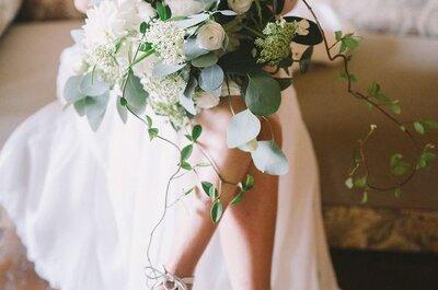 ¡Vuelve la tendencia más romántica! Zapatos de novia en color blanco