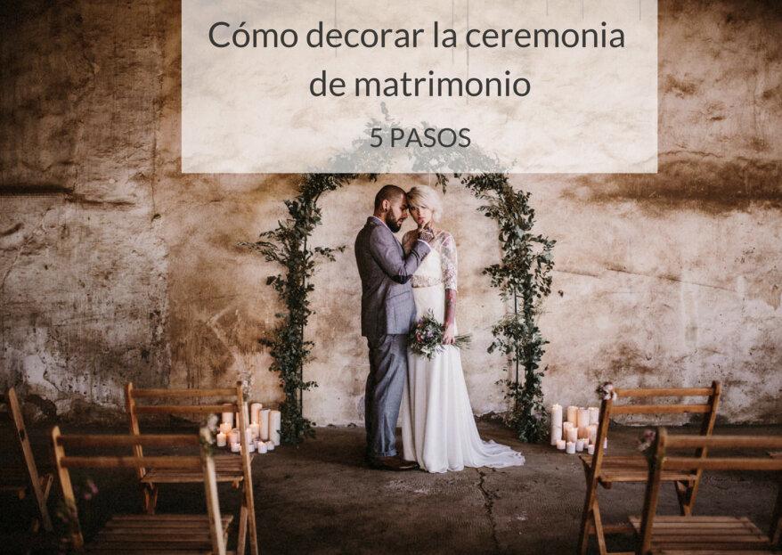 ¿Cómo decorar la ceremonia de matrimonio? ¡Embellece el momento más especial de tu boda!