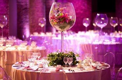 Decorazioni invernali per tavoli di matrimonio