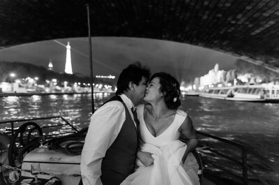 Le mariage Franco-Brésilien de Perle et Alcir à Paris sur une péniche !