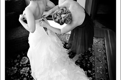 Noivas reais se preparando para o casamento