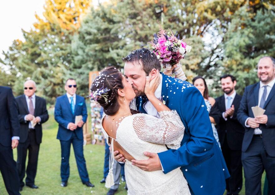 """Una boda vintage y a todo color: el """"sí, quiero"""" de Alexia y Rober"""