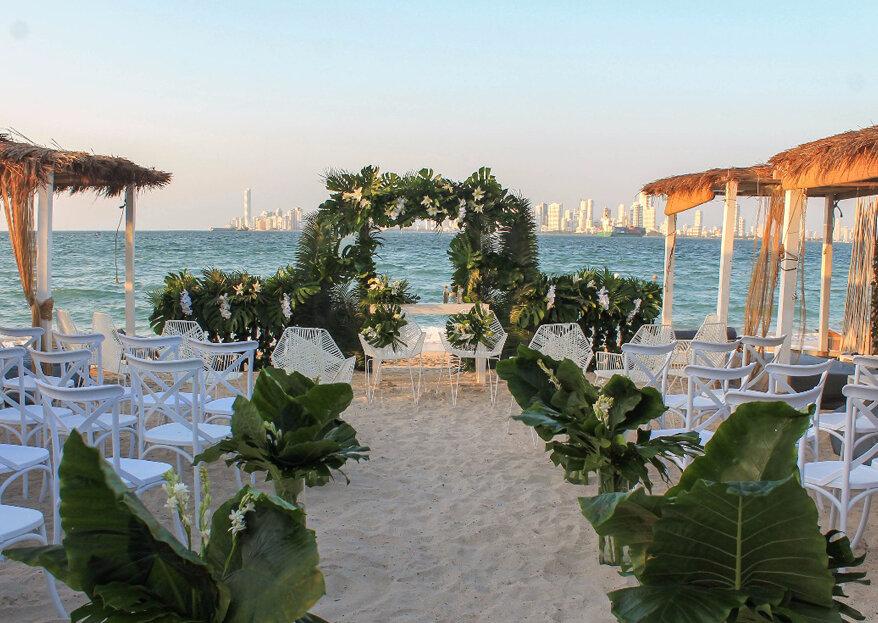 Bomba Beach Club: una playa paradisiaca para disfrutar la boda de tus sueños