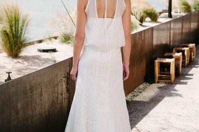 Rückenfreie Brautkleider in den Kollektionen 2015: mit Spitze und anderen Details veredelt