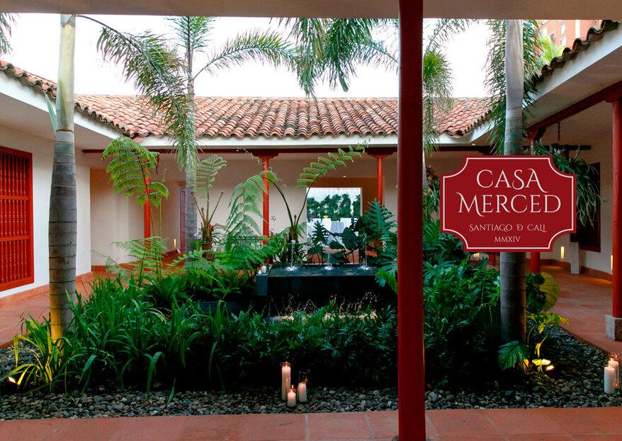 El escenario ideal para una boda histórica y sin precedentes: ¡Casa Merced te la bienvenida!