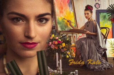 Невеста в стиле Фрида Кало: оригинальный свадебный образ