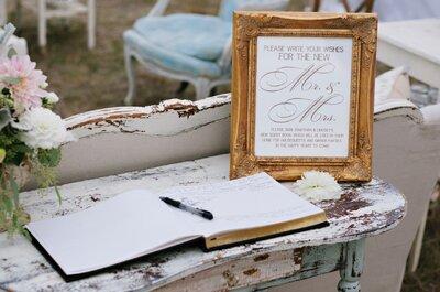 Impresiona a tus invitados con estos 7 libros de firmas muy originales