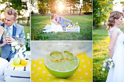 Kolor przewodni ślubu i wesela - żółty, idealny na Wielkanoc!