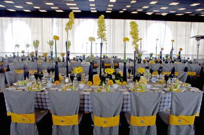 Blanco, negro y amarillo: Una combinación inesperada y súper original para decorar tu boda