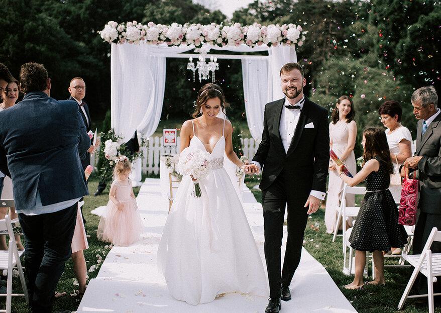 Ceremonia ślubna w plenerze Agaty i Dominika była zjawiskowa!