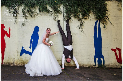 Break with tradition and inject some fun into your wedding photos