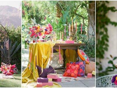 Wir präsentieren Ihnen die schönsten Ideen für eine Boho-Hochzeit in jeder Jahreszeit