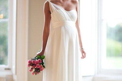 Brautmode für Schwangere – Die schönsten Hochzeitskleider mit Babybauch